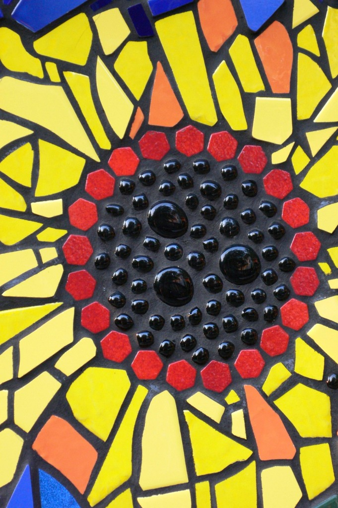 tile sunflower