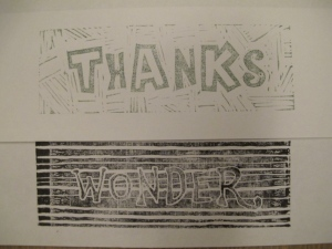 sample images for thanks and wonder