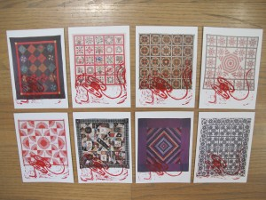 full selection of bobbin quilt cards