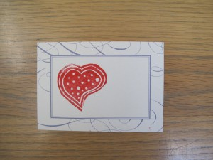 heart image with dots on card