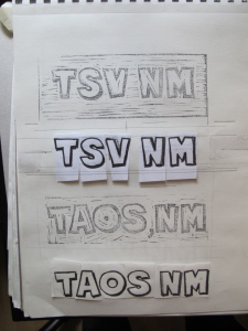 carved stamps for Taos and TSV
