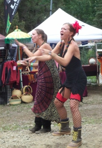 dancing girls at the festival