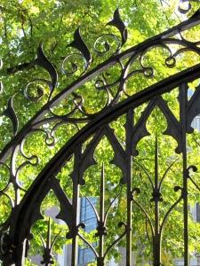 iron fence detail