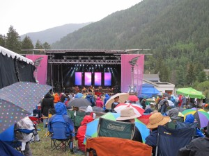 rainy day at the Taos Music Festival