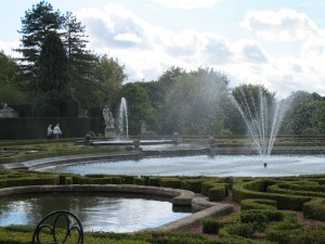 water gardens at the rear of Blenheim