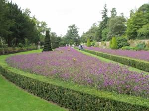 sweeping view of garden