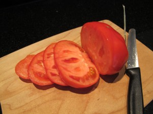 more sliced tomato