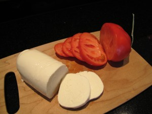 mozarella and tomato