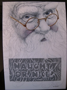 naughty or nice santa card