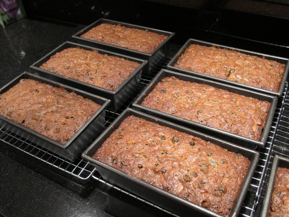 cakes out of the oven