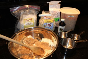 ingredients for oatmeal shortbread
