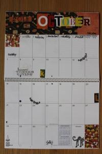 October calendar page
