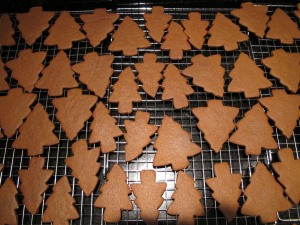 baked gingerbread cookies