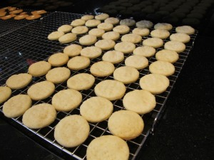 cooked wafer cookies