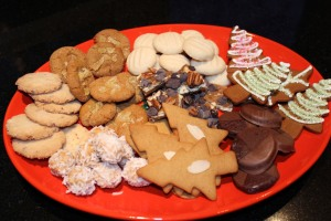 plate of Christmas cookies