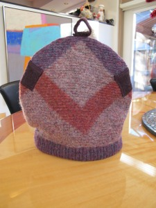 front of tea cozy