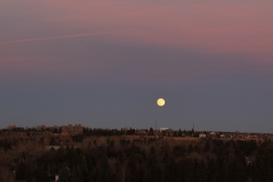 moon rising over River Park
