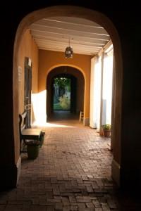 looking down a portal