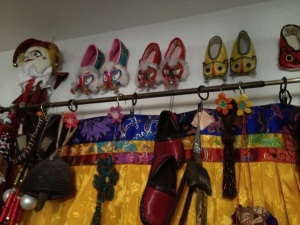 Chinese shoes in the studio