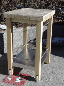 limestone topped kitchen cart