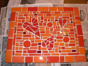 tile design laid out