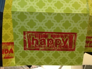 green happy card