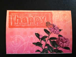 flowered happy card