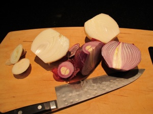 onions ready to chop