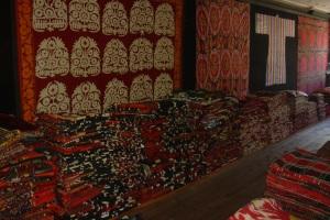 piles of textiles