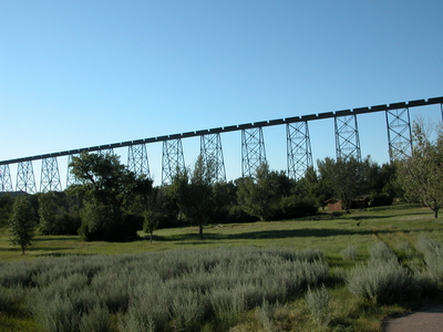 train on bridge