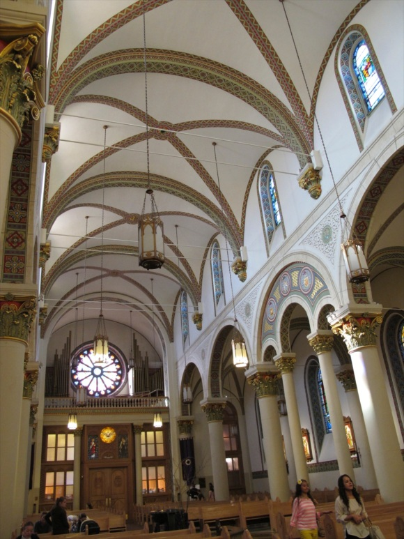 interior of St. Francis cathedral