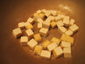 browing the tofu