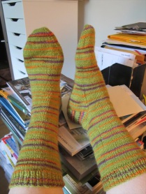 lovely green striped socks