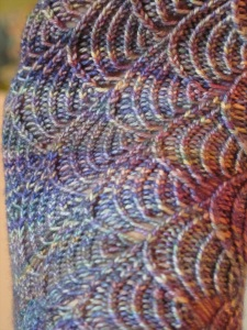 blue sock detail