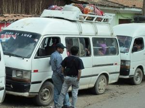 crowded mini-bus