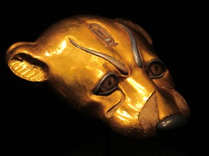 gold animal head
