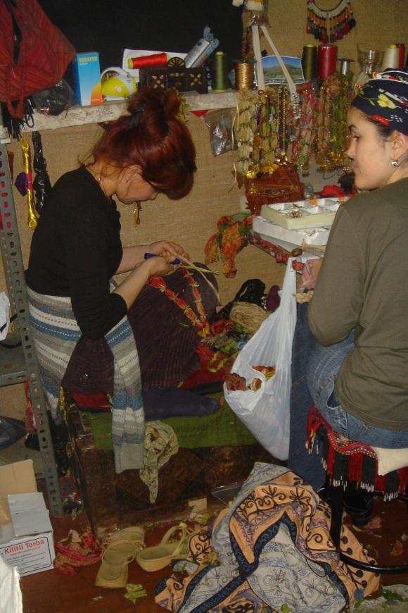 women making jewellry
