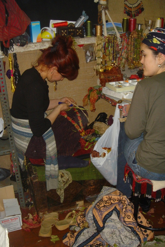 women making jewellry