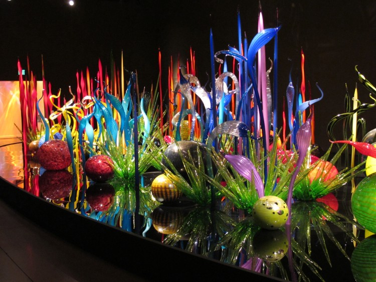 colorful glass display
