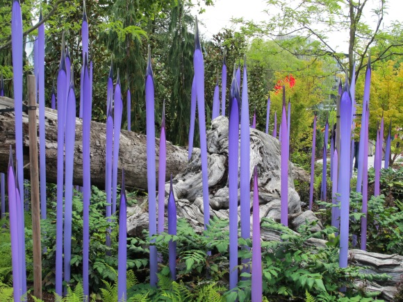 purple in Chihuly garden