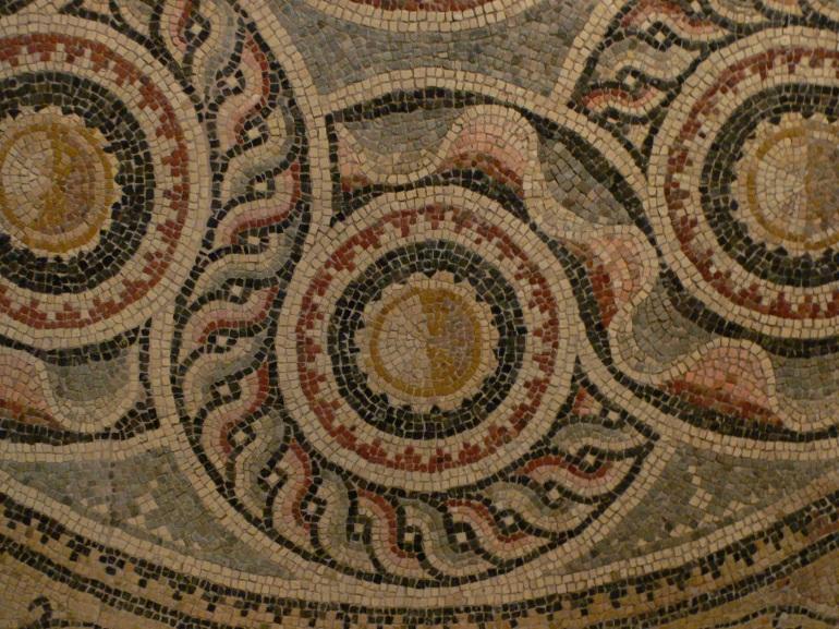 ancient mosaic tile