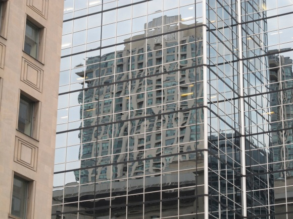 reflected buildings