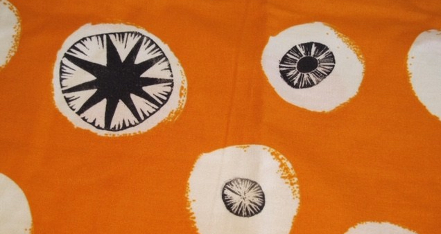 orange printed fabric