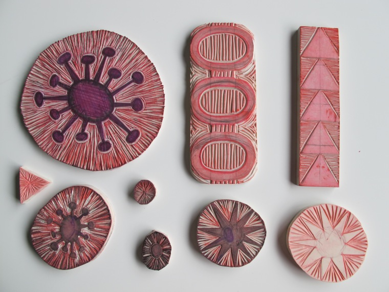 newly carved stamps