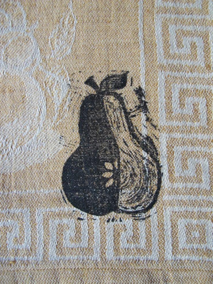 single pear print