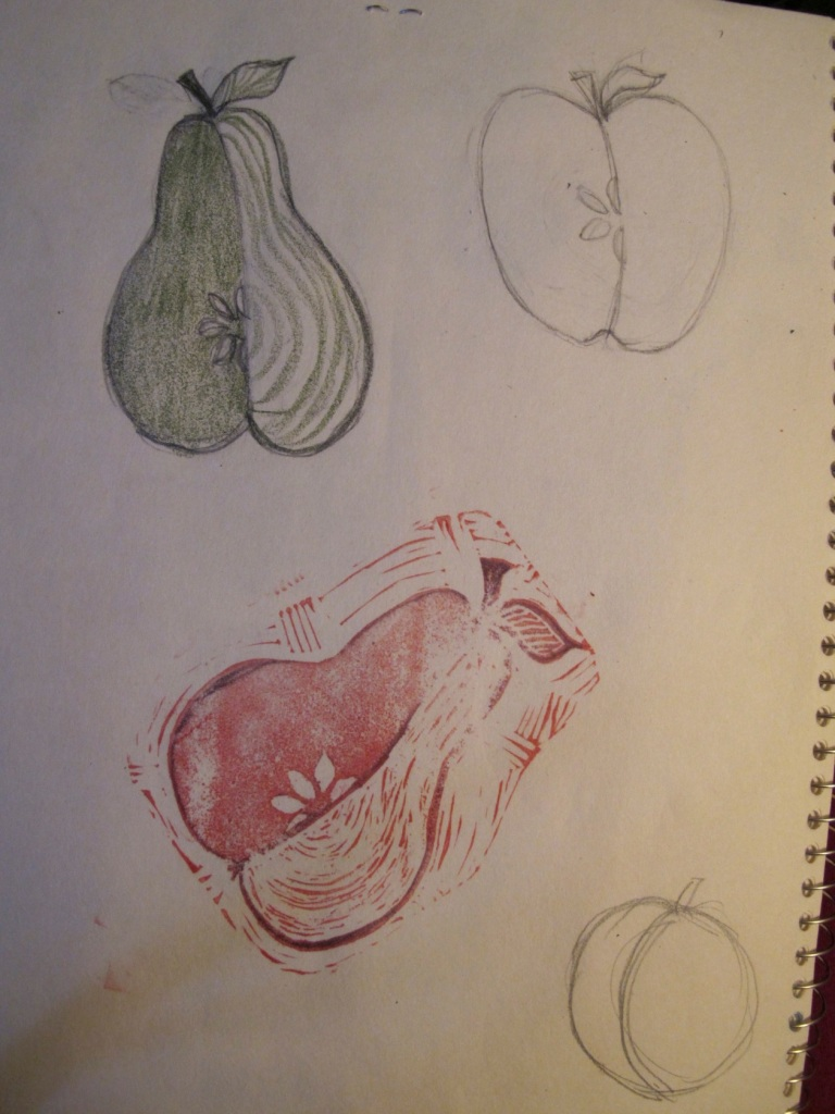 sketch of pears