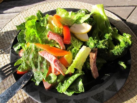 salad with pork tenderloin