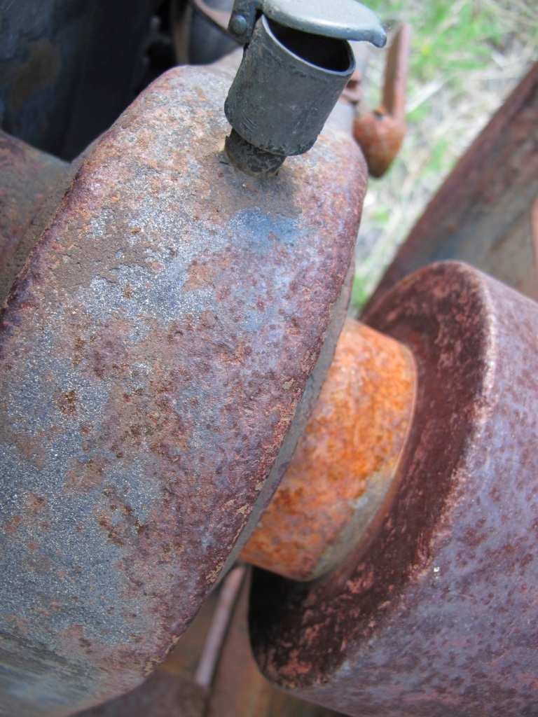 rusted metal