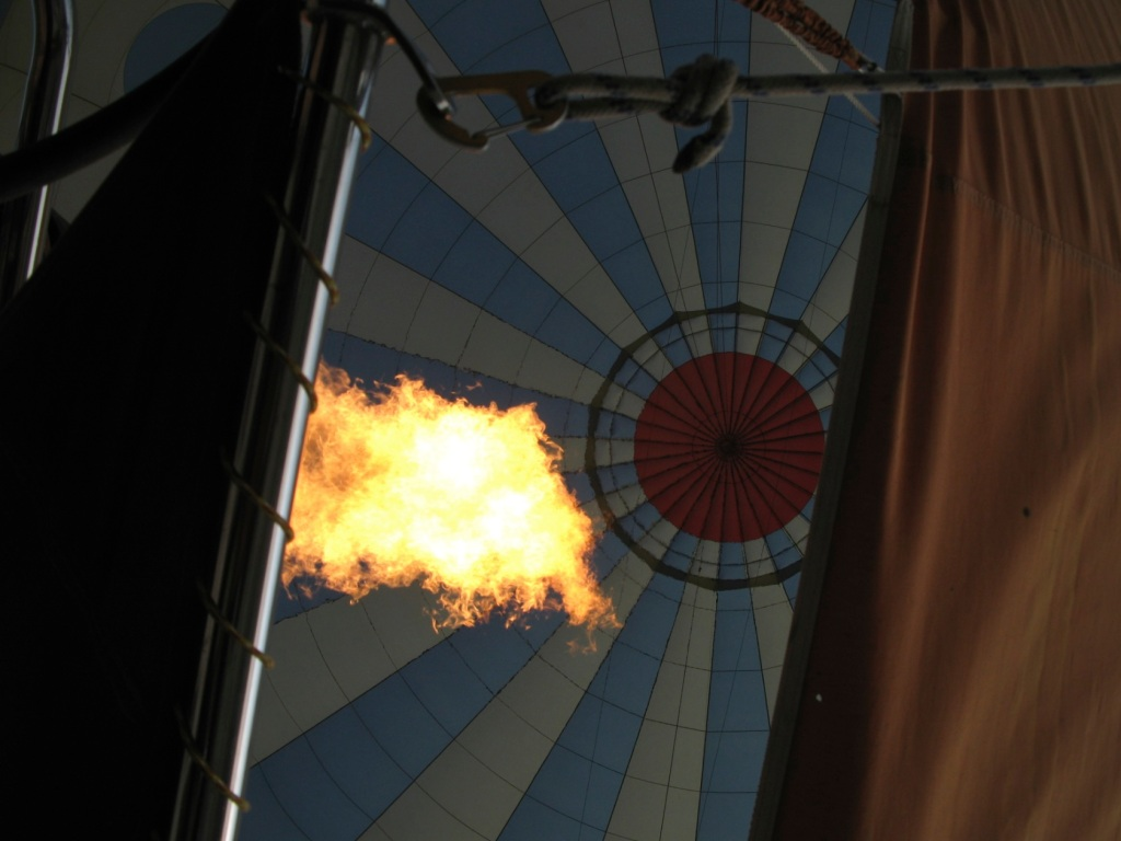 fire in balloon