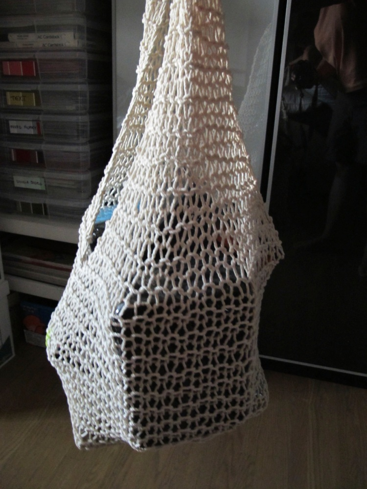 filled string bag